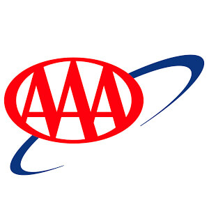 Logo for AAA insurance company. Links to their contact info.