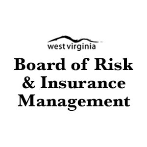 Logo for West Virginia Board of Risk & Insurance Management. Links to their contact info.