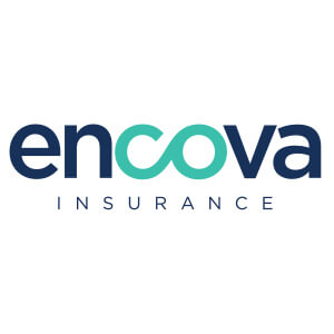 Logo for Encova insurance company. Links to their contact info.