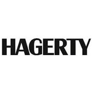 Logo for Hagerty insurance company. Links to their contact info.
