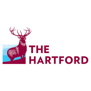 Logo for the Hartford insurance company. Links to their contact info.